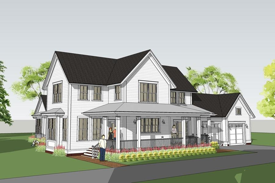 Simple country house plans with photos for Simple farmhouse designs