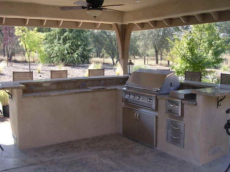 Covered outdoor kitchen photos for Simple outdoor kitchen designs