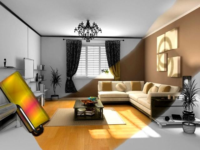 peinture interieur salon. Black Bedroom Furniture Sets. Home Design Ideas