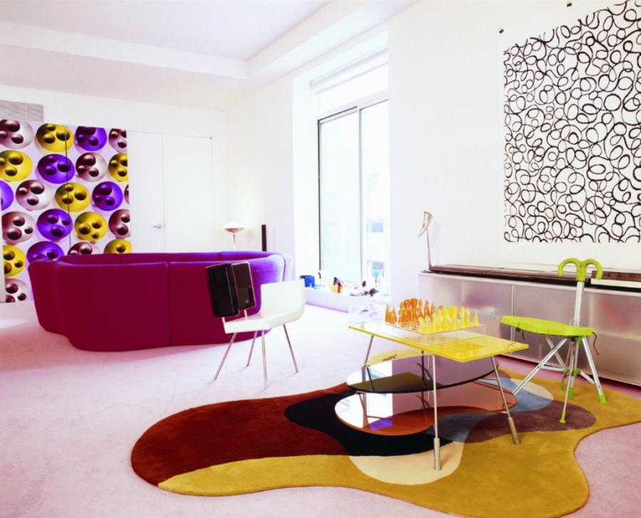 Colorful Modern Living Rooms : Glamorous Living Room Color Ideas...