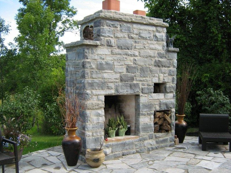 Outdoor fireplace oven photo for Kitchen design 06606