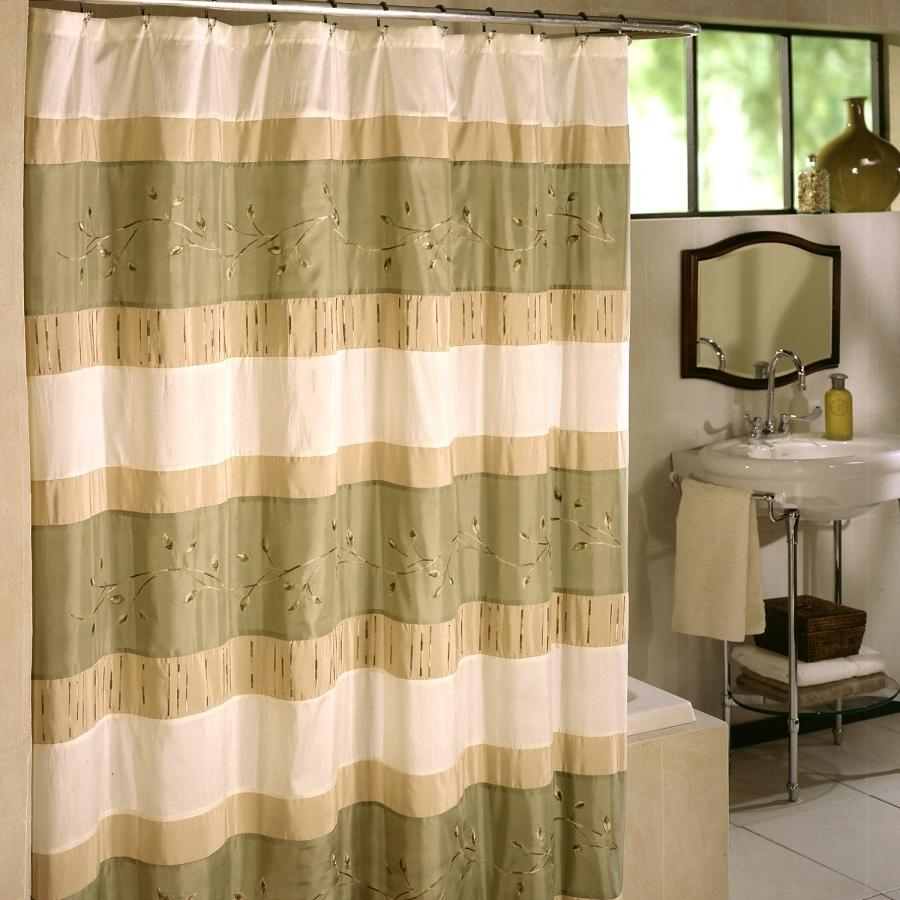 Wasabi Fabric Shower Curtain
