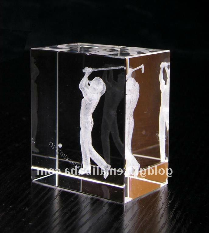 Glass Etched Photo Cube