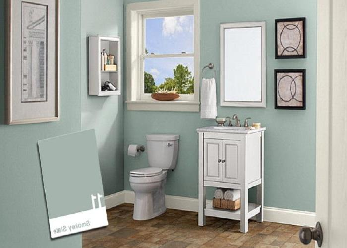 ... Bathroom, : Vintage Wood Color Schemes Bathroom Decorating...