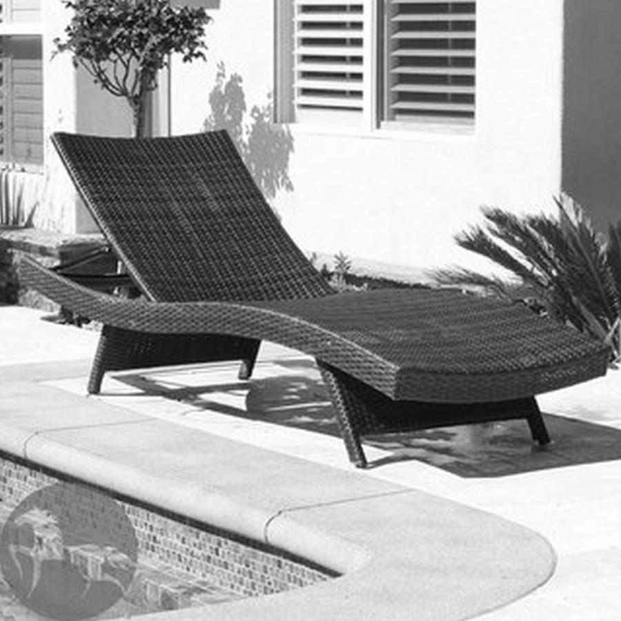 Christopher Knight Home Outdoor Brown Wicker Adjustable Chaise...