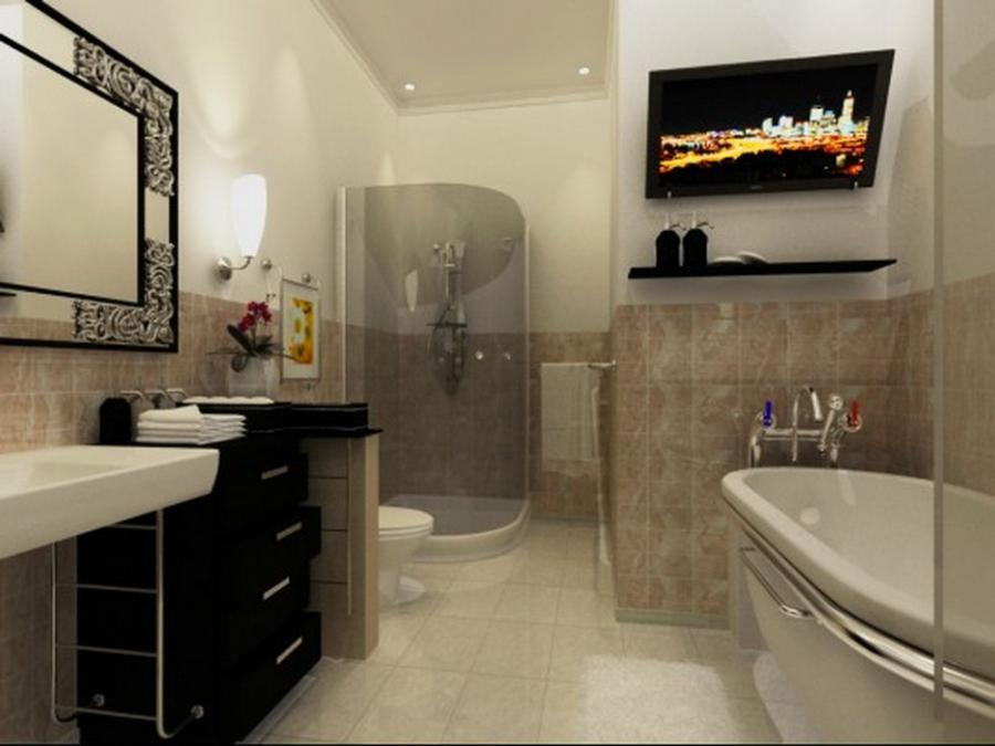 Natural Bathroom Design With Wonderful Decoration