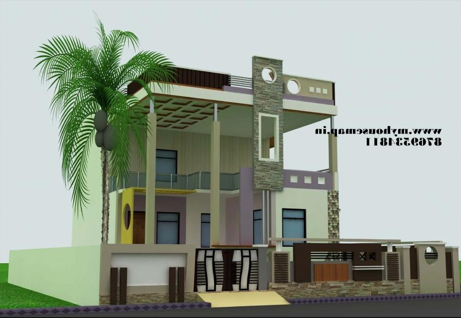 House front elevation duplex joy studio design gallery for Duplex house front elevation pictures