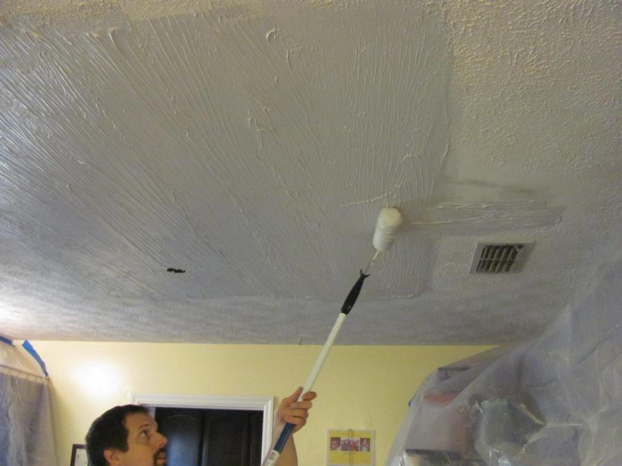 After all the mud was dry and the ceiling was ready to texture...
