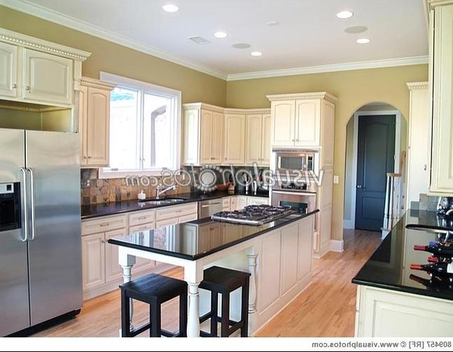 Black appliances and white cabinets photos - Modern kitchen with black appliances ...