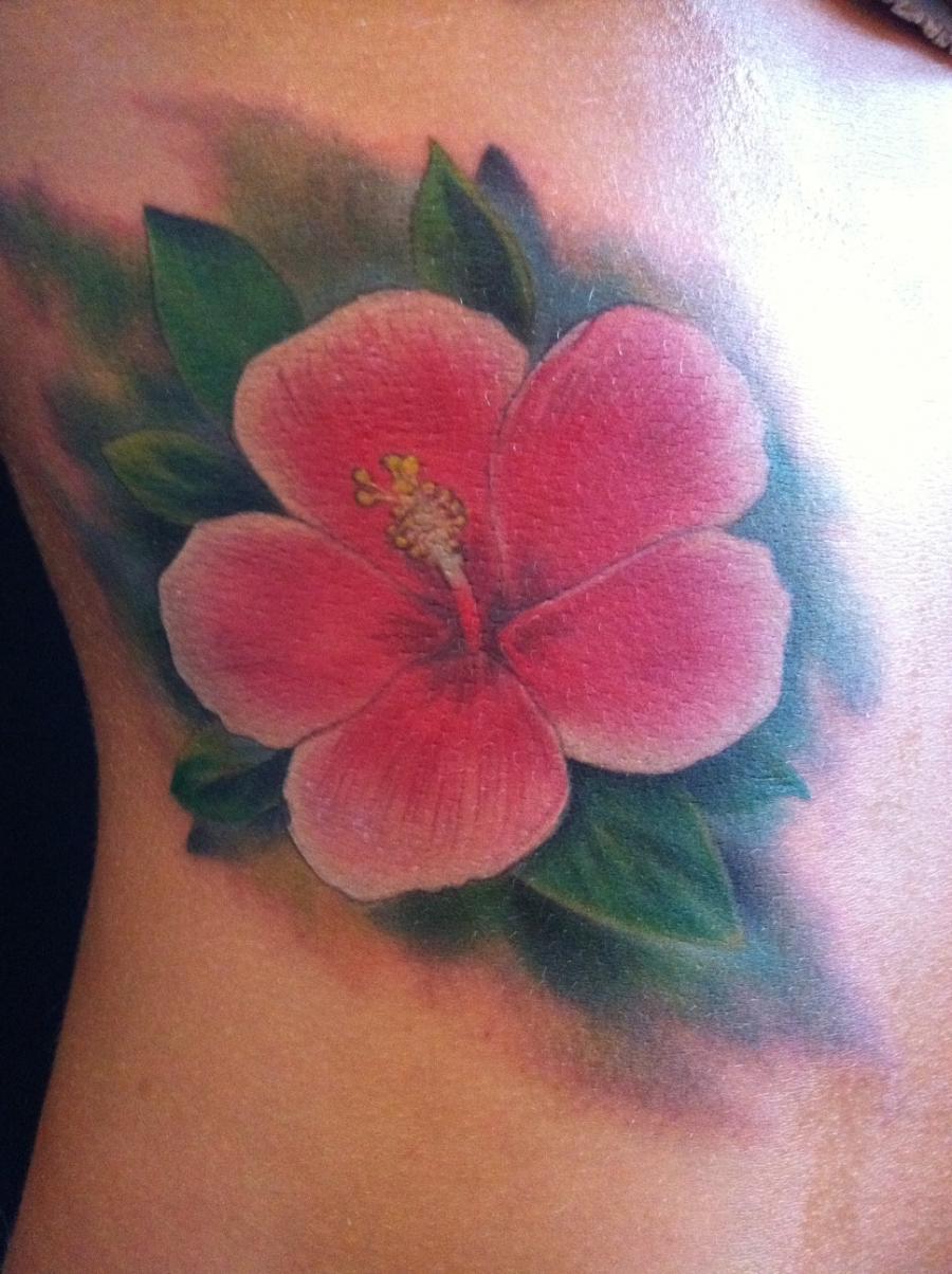 Hibiscus Flower Tattoo Photos