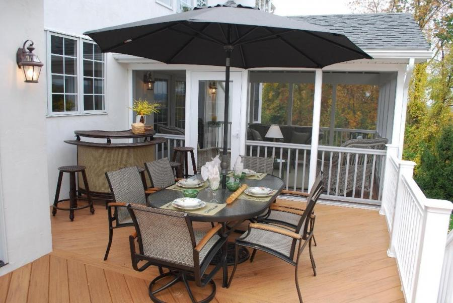 how to clean timber tech porch