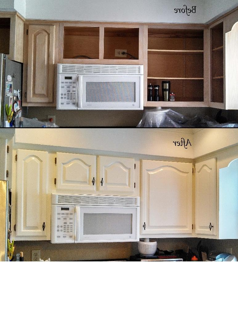 Before And After Photos Refinishing Cabinets