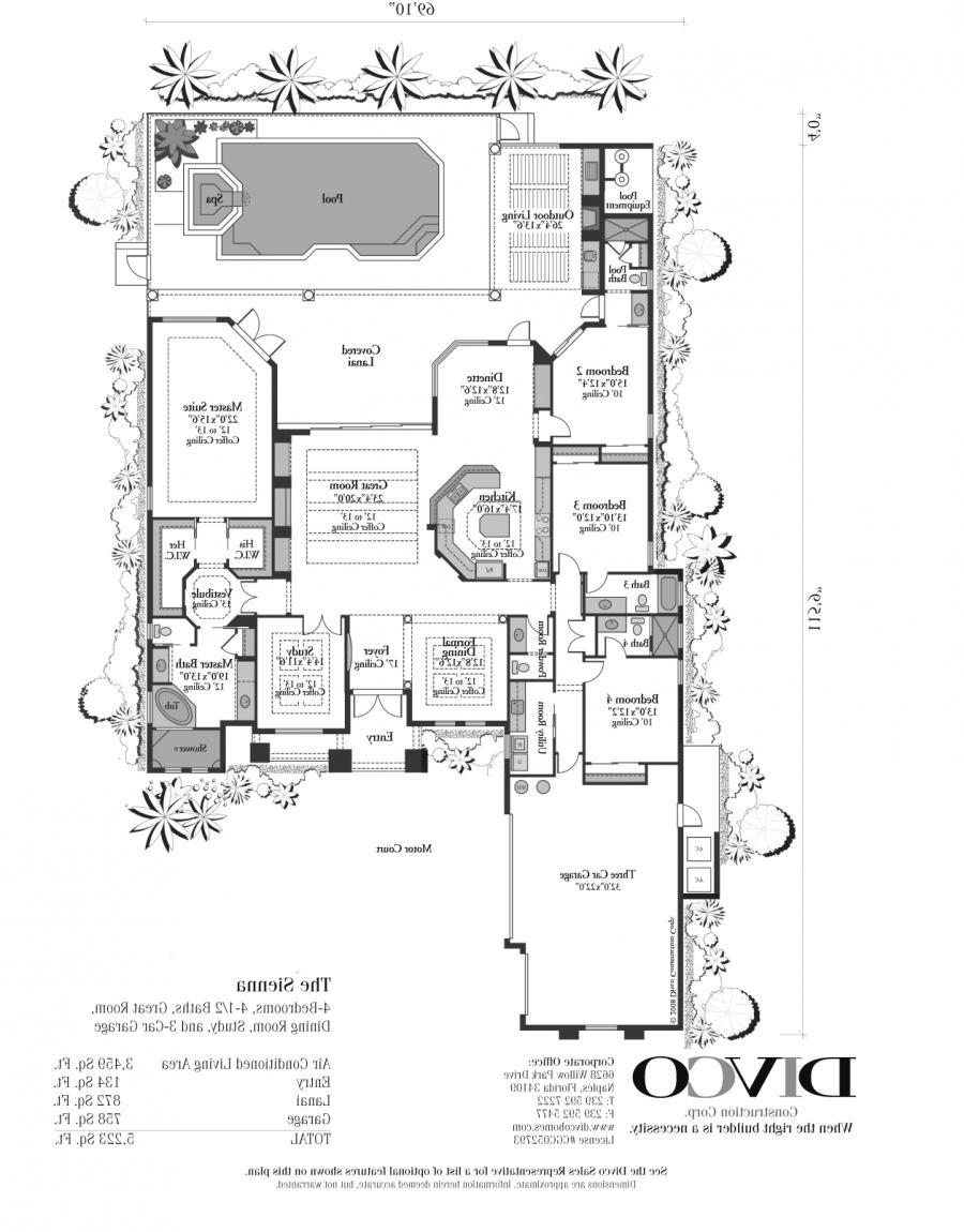 Custom house plans with photos for Custom mansion floor plans