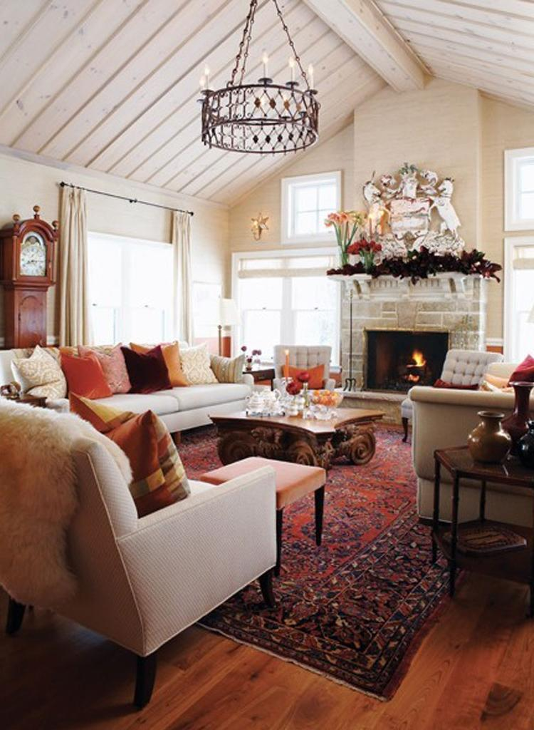 Warm cozy living room photos for Warm inviting living room ideas