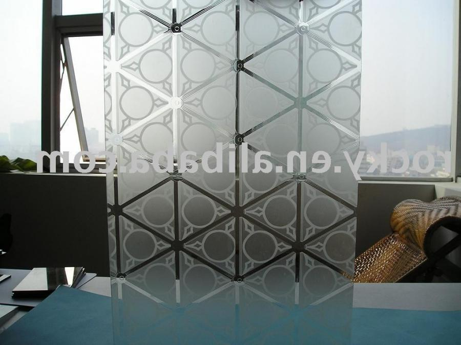View Product Details: patterned acid etched glass
