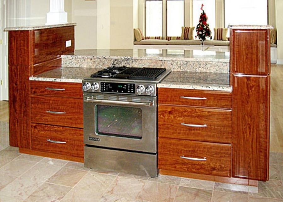 kitchen island with stove insert