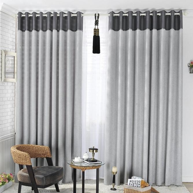 ... gray blackout curtains ...