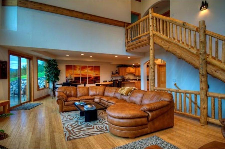 Unusual Cabin Interior Design : Log cabin interior design photos