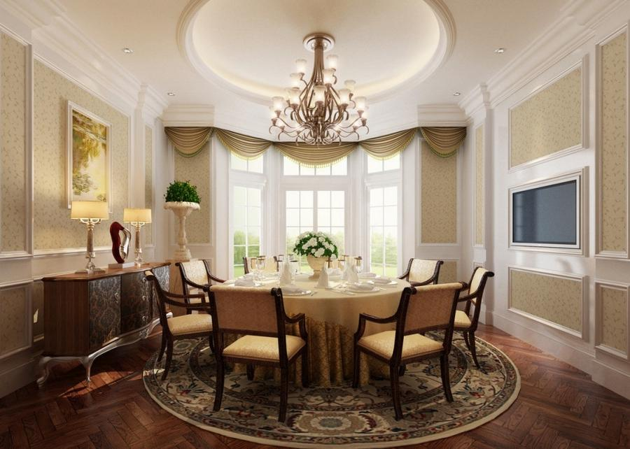 French Classic Dining Room Interior Design
