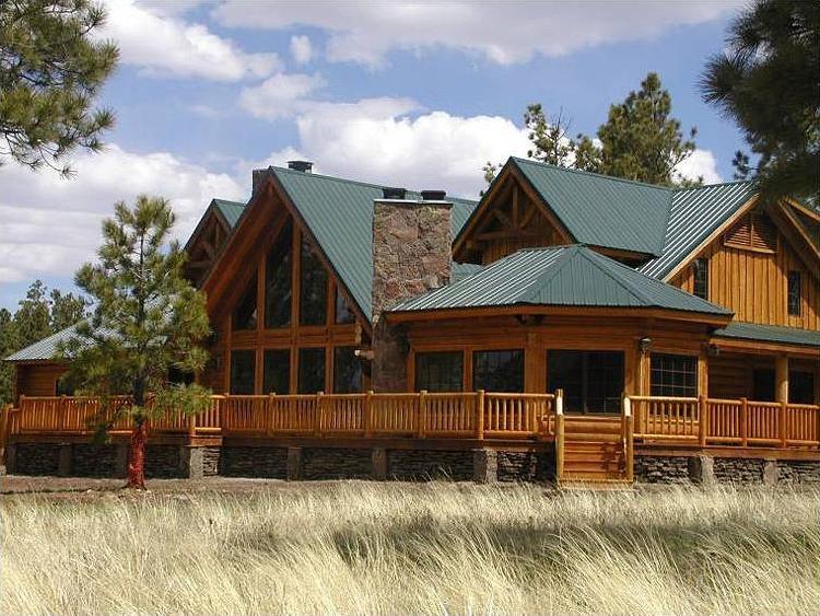 Log ranch house photos for Log ranch homes