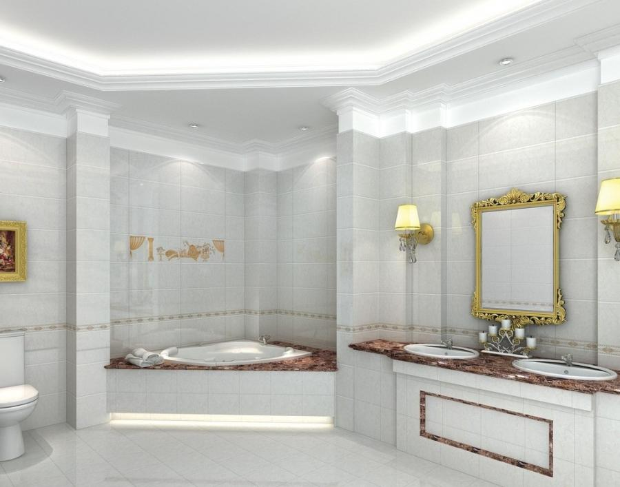 Images of wall bathroom interiors