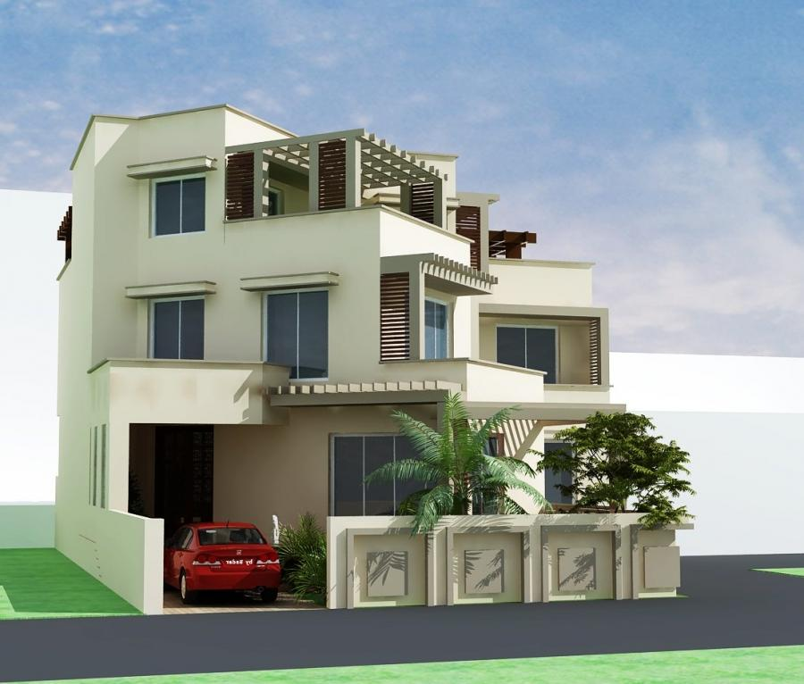 Front Elevation Of Small Bungalows : Front elevation house duplex bungalow joy