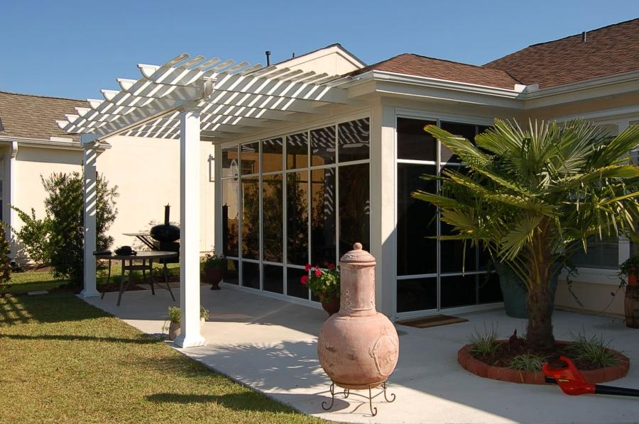 Pergola attached to house photos for Sunroom attached to house