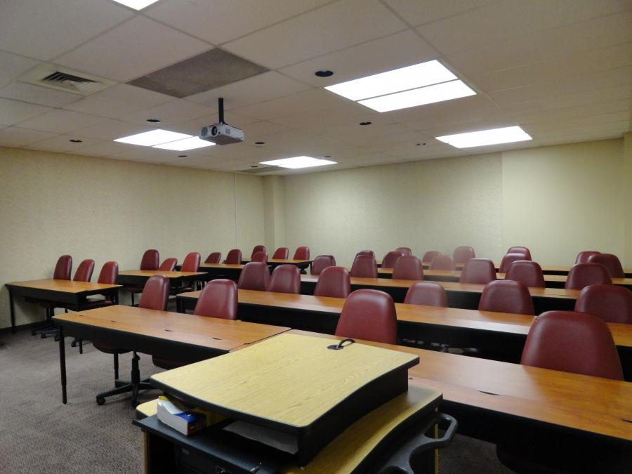 Located on the first level of the Center, the classrooms are...