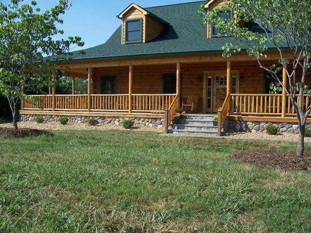Log Cabin Front Porch Photos