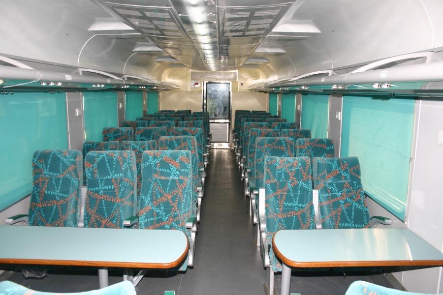 interior view of a shatabdi express ac chair car