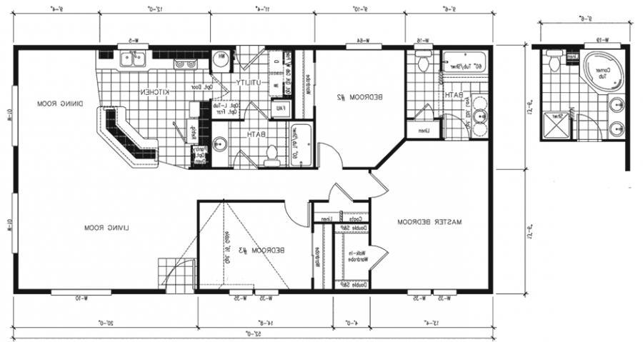 Imposing mobile home floor plans floor tlc manufactured for Free mobile home floor plans
