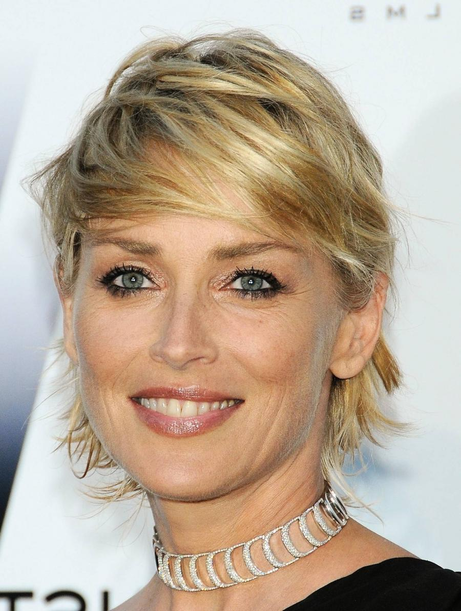 Sharon Stone Short Haircut Photos