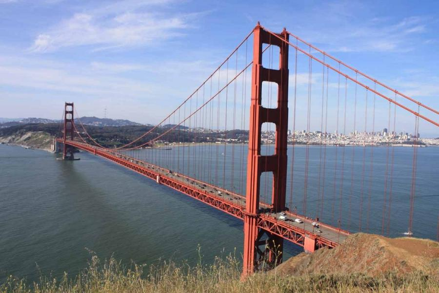 This is the postcard shot of the Golden Gate Bridge u2014 the one...