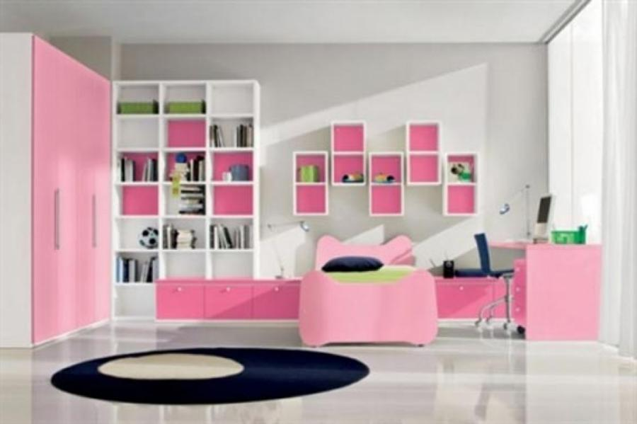 Enticing Idea For Elegance Design Kids Bedroom Interior With Pink...