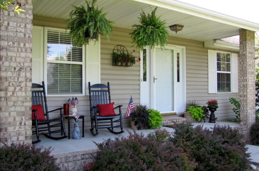 Front Porch, : Captivating Front Porch Decoration Using Front...