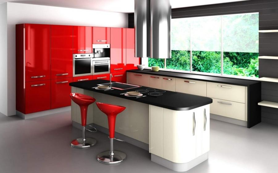 red and white kitchen red black and white kitchen design ideas...