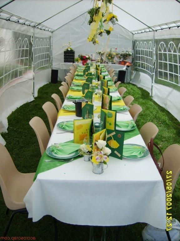 photo de decoration de table pour communion