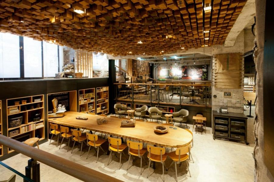 Starbucks Coffee Shop in Amsterdam is a concept store that...