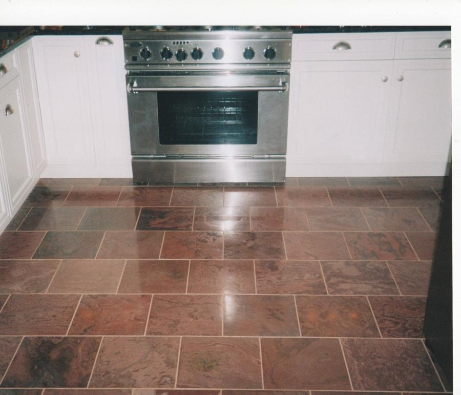 ... Kitchen Flooring Modern Aluminum Diskwasher And Stove With...