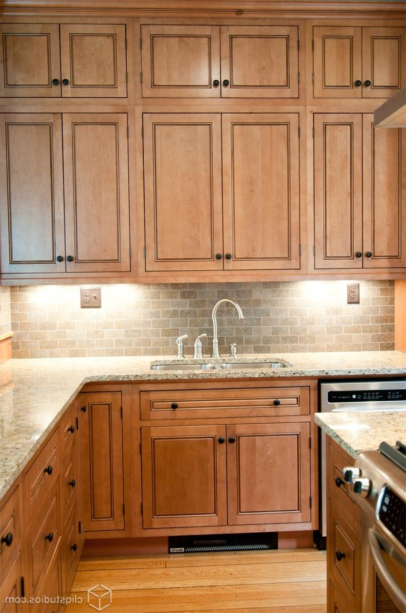 Maple kitchen cabinets small tilt maple kitchen cabinet for Cherry vs maple kitchen cabinets