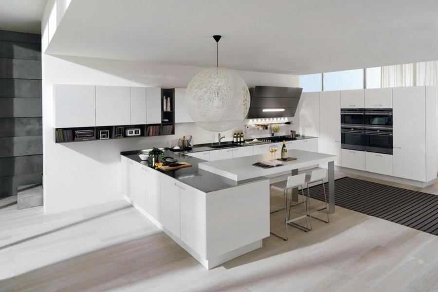 Colorful Spacious Minimalist Lacquer Kitchen Plans listed in:...