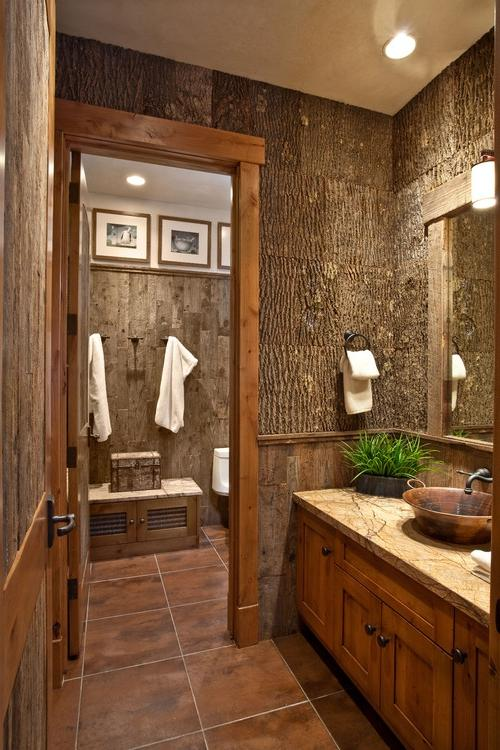 Rustic bathroom photos