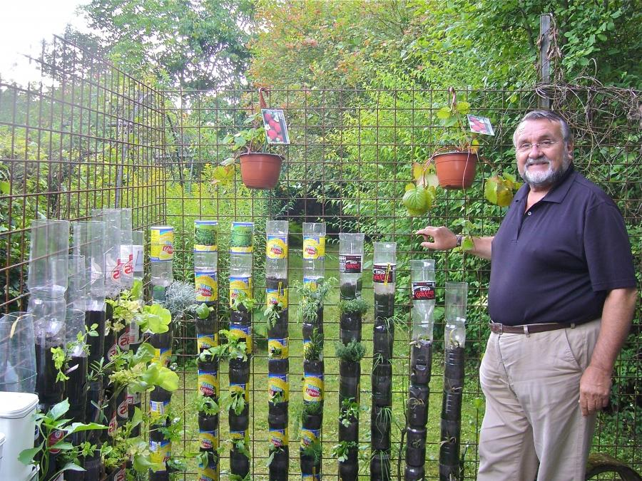 Bottle tower gardening, a simple and cheap method to produce...