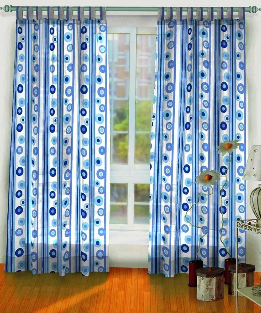 Beautiful Blue Curtain for Making Cool and Relax Atmosphere :...