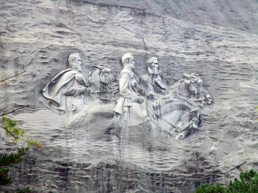 Stone mountain carving photo