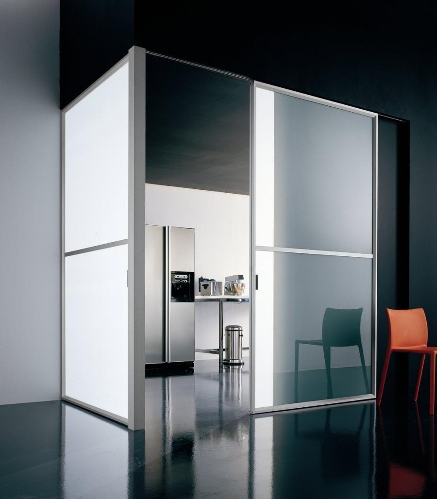 Modern glass photo frames for Commercial interior sliding doors
