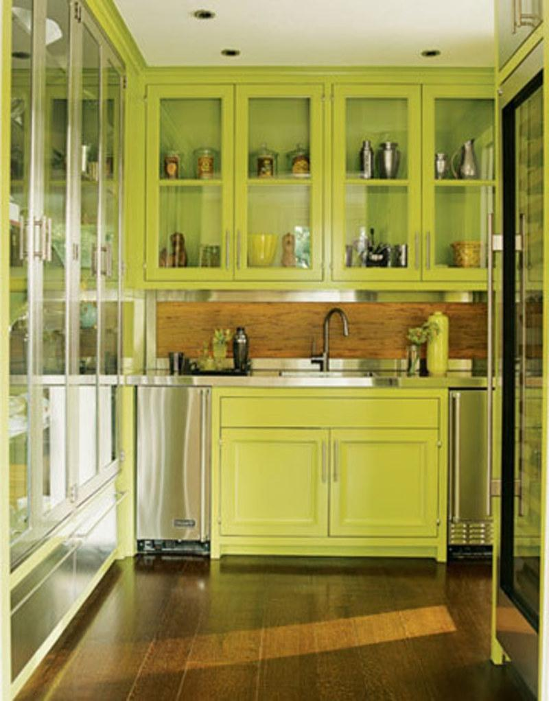 Green Kitchen Walls Interior Inspiration Inspirations Picture