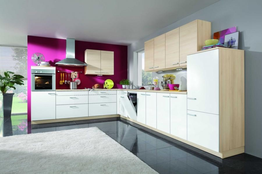 ... Kitchen Interior Fantastic Contemporary Kitchen In Pink And...