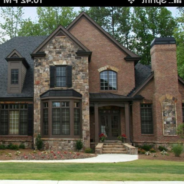 Brick And Stone ExterioR New House Pinterest Source