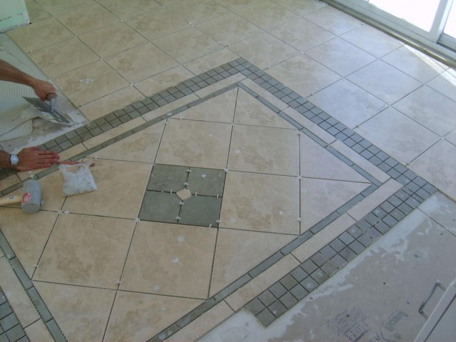 Installing tile in a bathroom